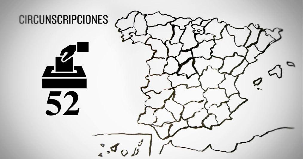 ¿Cómo funciona el sistema de circunscripciones electorales en España?