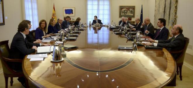 Sesión de Consejo de Ministros durante este último año.