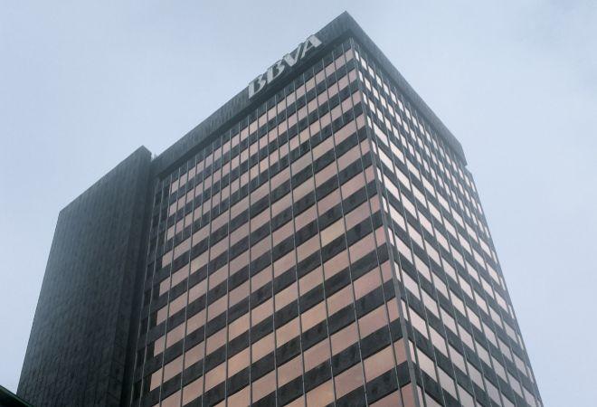 Fachada del edificio del banco BBVA en Bilbao
