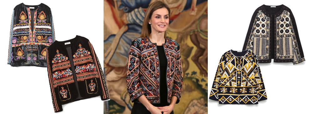 d9797b6bea1c3 Letizia y las chaquetas étnicas de Zara en las que invertir 79 euros