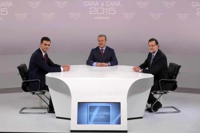 Imagen del debate durante el debate electoral del pasado 14 de...