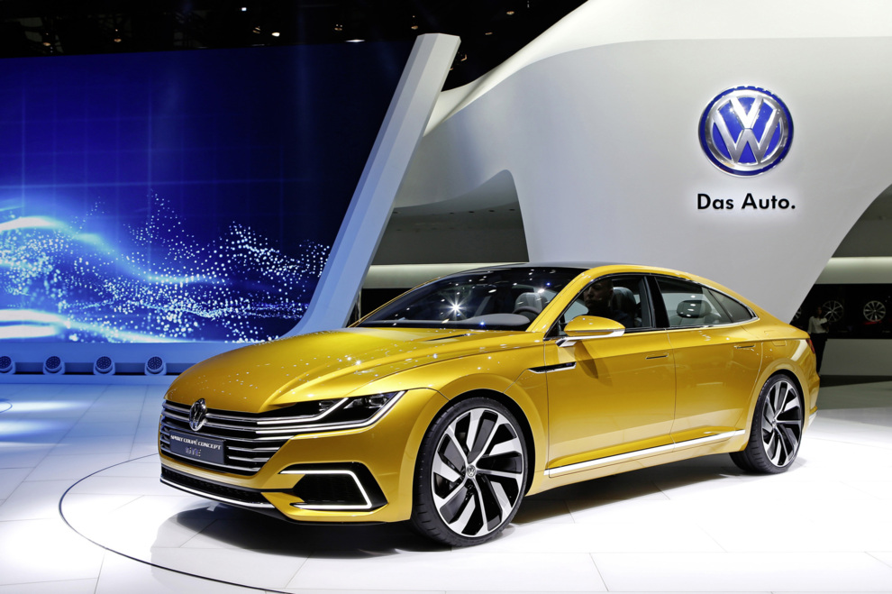 El Volkswagen Sport Coupé Concept GTE en el Salón del Automóvil de...