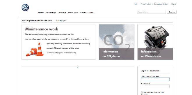 Página web de Volkswagen