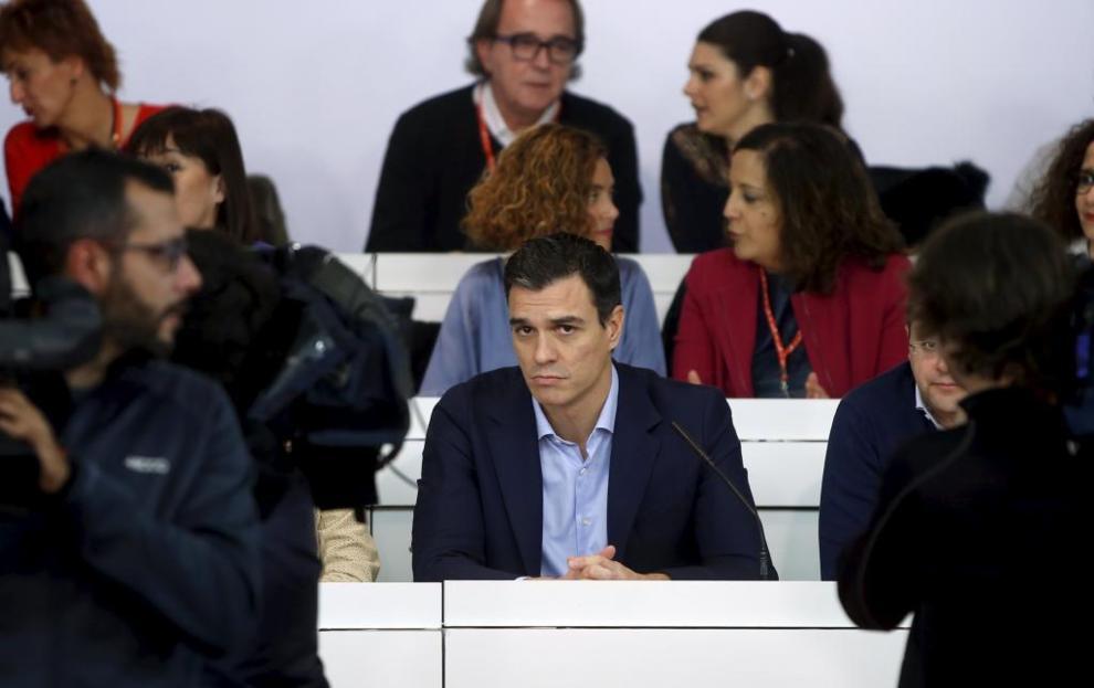 Pedro Sánchez, en el Comité Federal del PSOE.