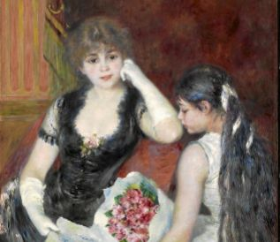'Palco en el teatro',1880, de Pierre-Augusto Renoir.
