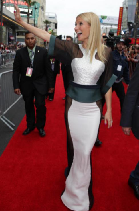 La actriz Gwyneth Paltrow captó la atención de todos los fotógrafos...