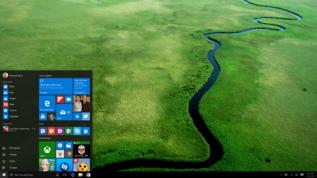 Pantalla de inicio de Windows 10.