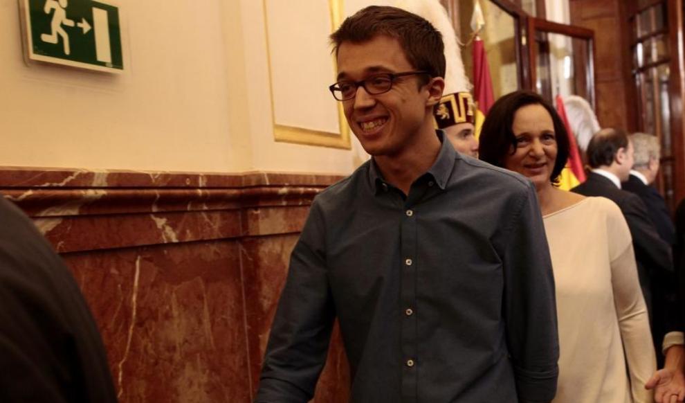 Íñigo Errejón y Carolina Bescansa, en el Congreso por el...