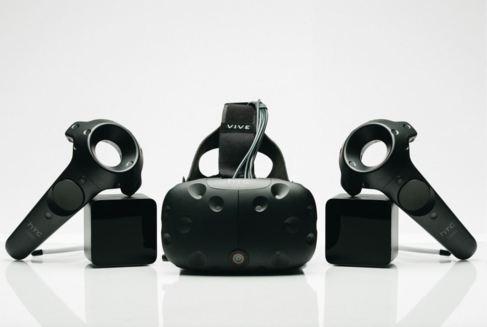 Visor y mandos del sistema Vive Pre de HTC.