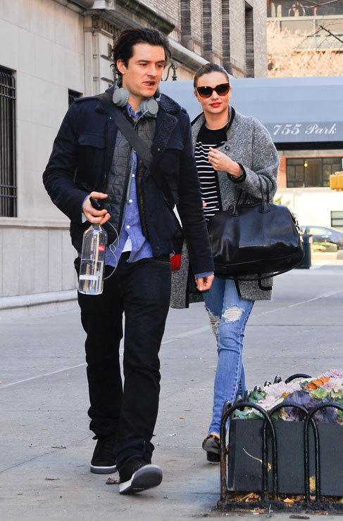 Miranda Kerr y Orlando Bloom. Tener un hijo en común marca mucho....