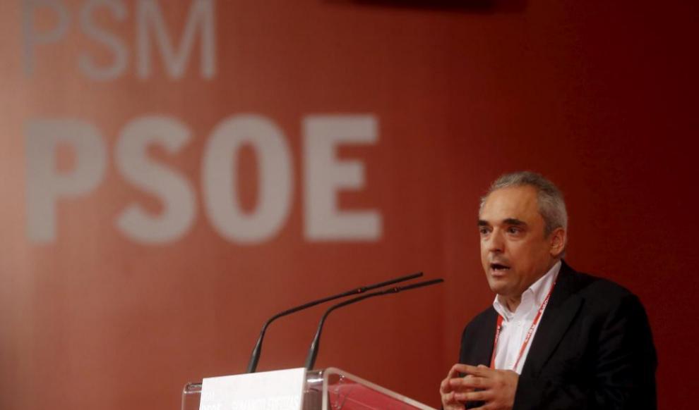 Rafal Simancas, secretario ejecutivo del PSOE, en un acto del PSM.