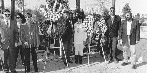 Manifestación en recuerdo de Lucrecia Pérez en el año 1994.