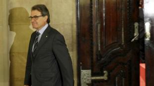 El presidente en funciones de la Generalitat, Artur Mas, en el pleno...