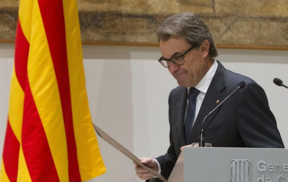 Artur Mas, este sábado después de comparecer en el Palau de la...