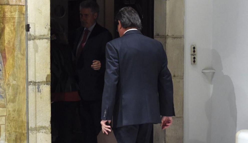 Artur Mas, después de su comparecencia de este sábado.