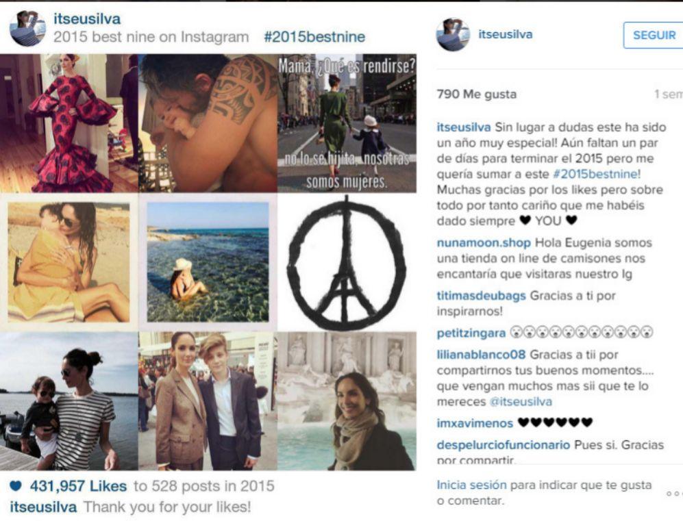 Entra en los cuarenta feliz de haber vivido un año muy importante para ella. La modelo así lo evidenció en su propia cuenta de Instagram con un resumen de lo que le deparó el pasado 2015.