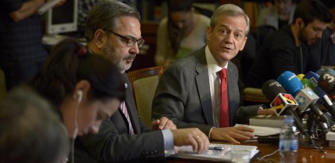 Jesús Caballero Klink y el fiscal jefe provincial, José Javier Polo.