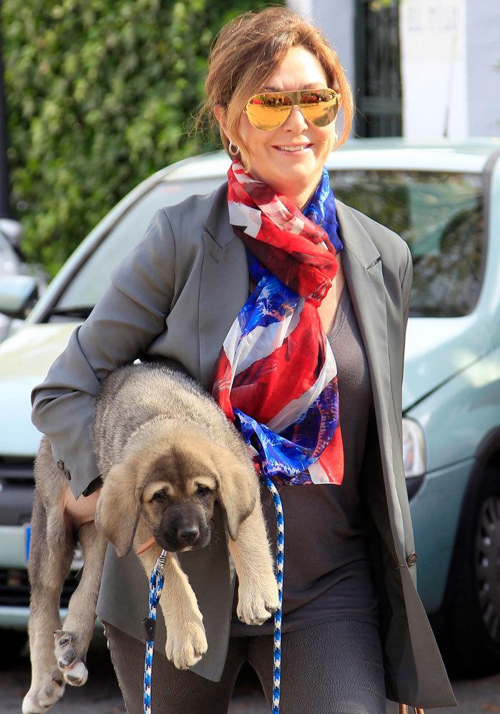 Es una amante de los animales y ha paseado por las calles de Madrid...