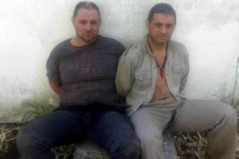 Cristian Lanatta (izquierda) y Víctor Schillaci, tras ser hallados en...