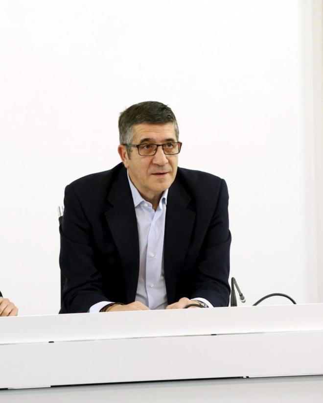 Patxi López, en Ferraz el lunes por la mañana.