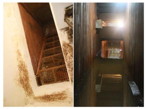 Túnel tras la habitación del 'Chapo' que conduce a la...
