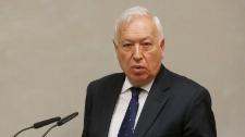 José Manuel García-Margallo, durante la presentación del libro en...