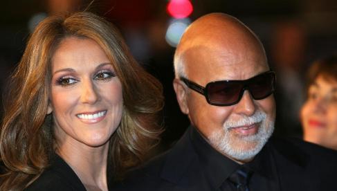 Céline Dion junto a su esposo René Angélil.