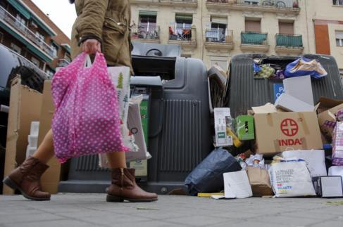 Contenedores de reciclaje Moncloa-Aravaca.