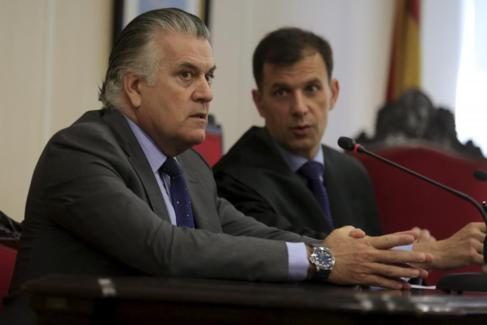 Luis Bárcenas el pasado julio en el Juzgado de lo Social.