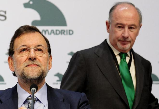 Mariano Rajoy y Rodrigo Rato, en el X Encuentro Financiero...