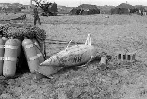Una de las tres bombas nucleares que cayeron en tierra firme en...