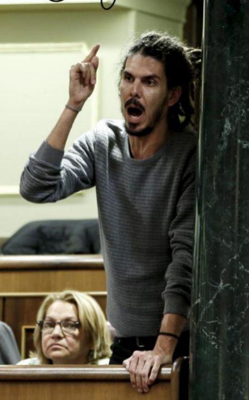 ALBERTO RODRÍGUEZ / PODEMOS. El diputado de izquierdas ha...