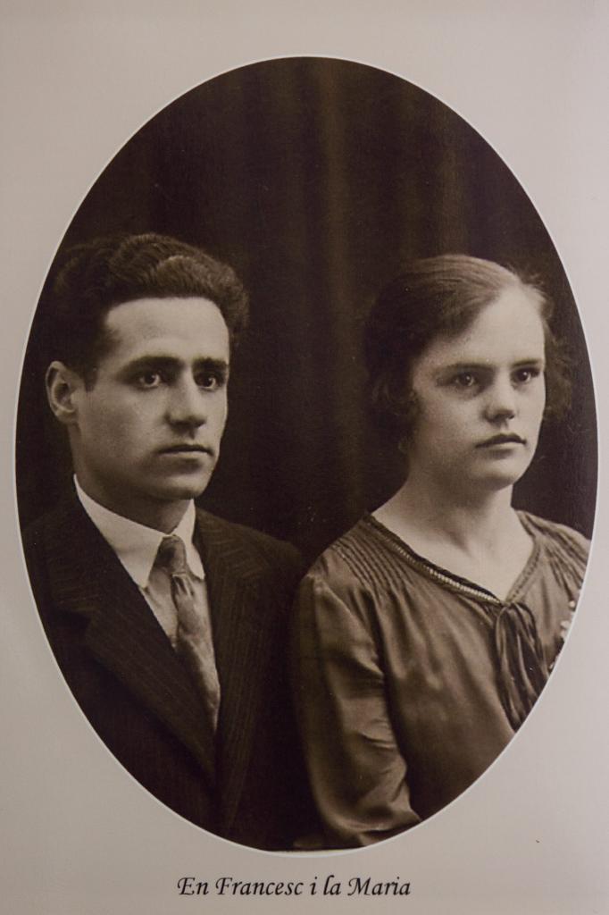 Francisco Puigdemont, fundador de la pastelería, y su mujer María.