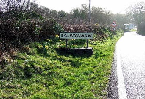 Entrada a la localidad de Eglwyswrw.