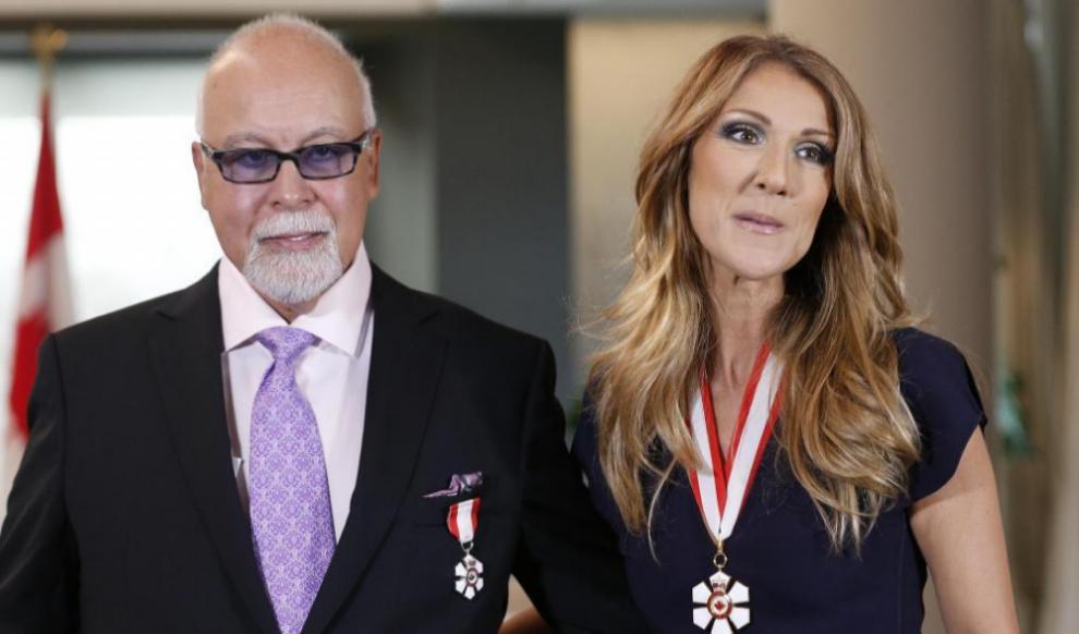 La cantante Céline Dion junto a su esposo René en una imagen de...