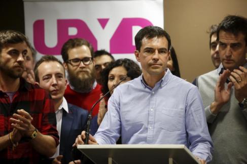 El portavoz nacional de UPyD, Andrés Herzog la noche del 20-D.