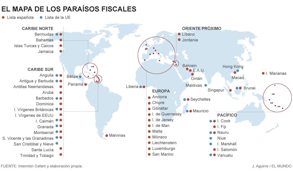 En Estos Paraísos Fiscales Se Esconden 7 6 Billones De Dólares Economía El Mundo