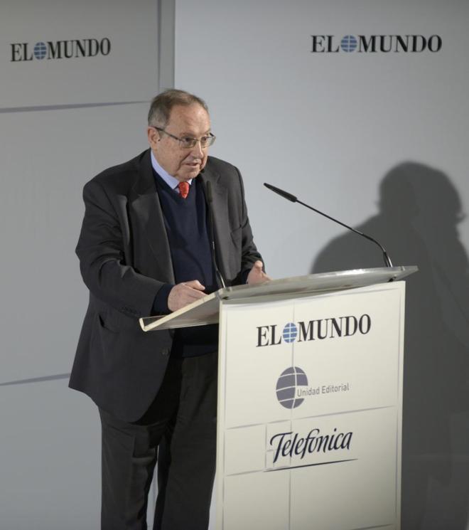 José Luis Bonet, presidente de la Cámara de Comercio durante su...