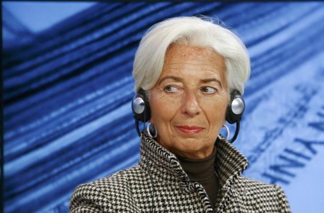 Christine Lagarde, directora del Fondo Monetario Internacional, en...