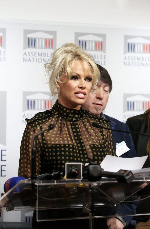 <strong>Pamela Anderson (48).</strong> Junto con el apoyo de la...