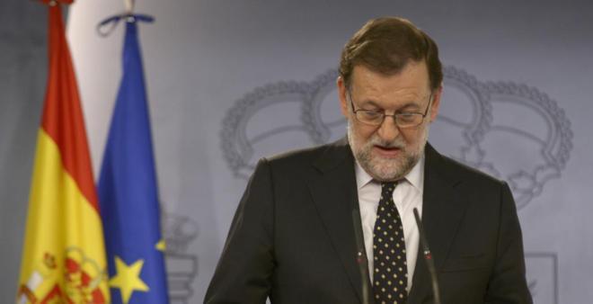 Mariano Rajoy, durante su comparecencia del pasado viernes.