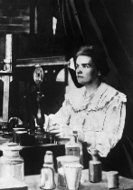 Marie Curie, junto a su marido, Pierre Curie.