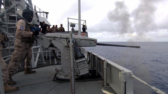Imagen de 'FAS, a bordo del buque 'Galicia'.