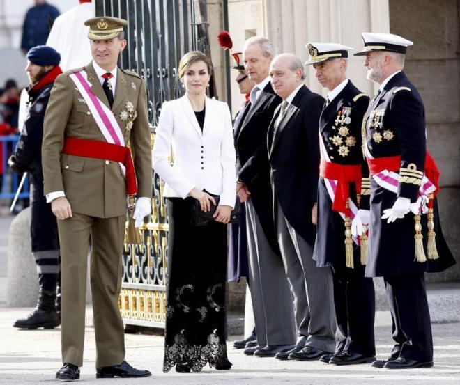 Los Reyes Felipe VI y Letizia, en la pasada celebración de la Pascua...