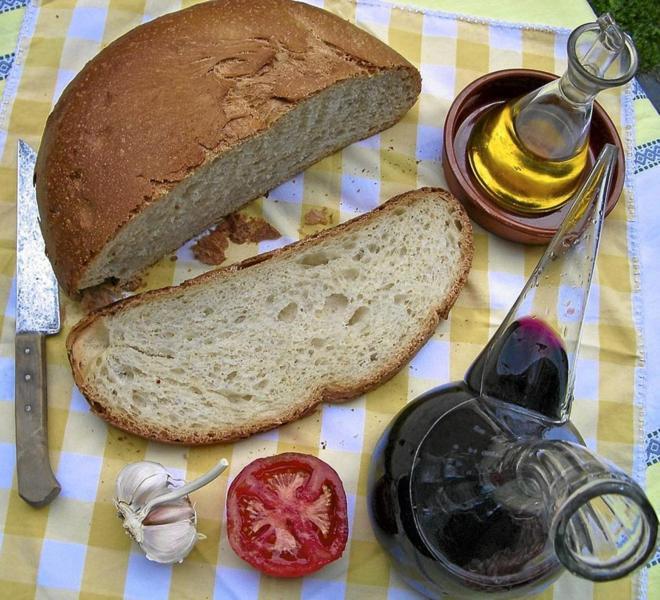 Ingredientes de la dieta Mediterránea.