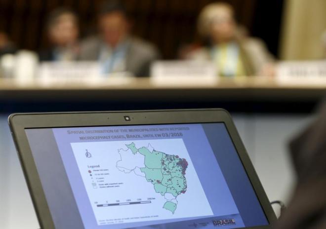 Distribución de los casos de Zika en Brasil.