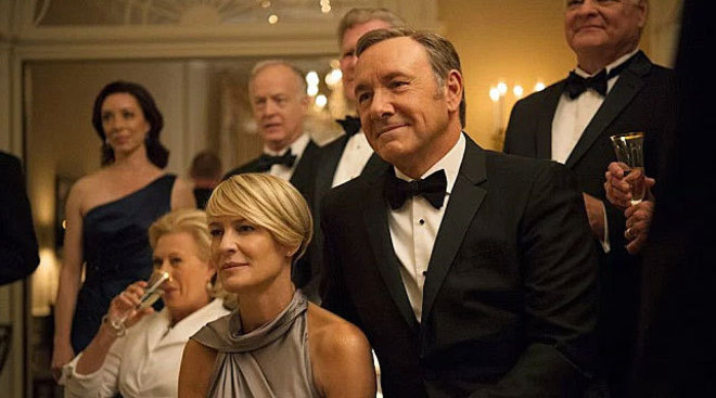 Kevin Spacey y Robin Wright, en 'House of cards'.
