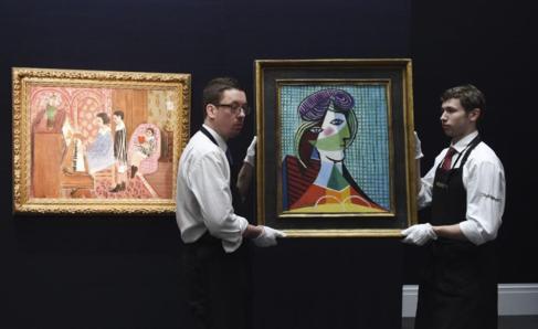 La obra 'Tête de femme' de Picasso junta a 'Leçon de...