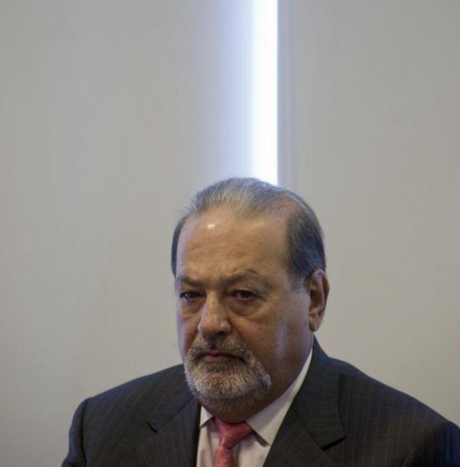 El empresario mexicano asiste a una conferencia en México City