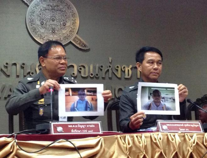 La policía tailandesa muestra fotos de Artur Segarra, principal...